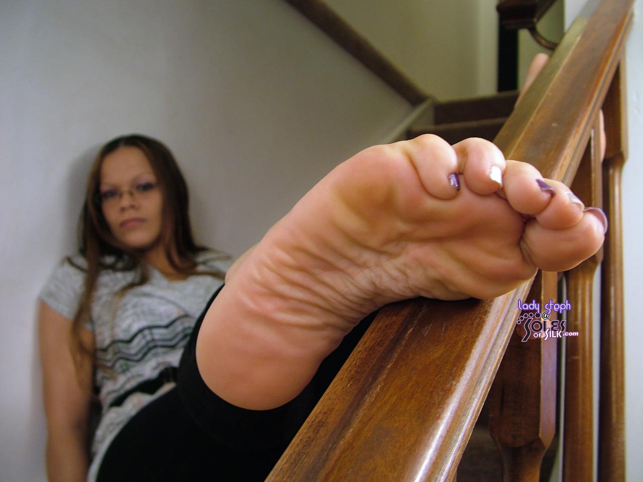Lady footjob